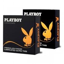 Playboy Кондоми  Playboy кондом Lubricated Ultra Thin - 3 парчиња